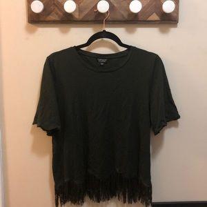 Topshop fringe blouse